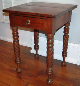 1 Drawer Stand with Bold Rope Turned Legs
