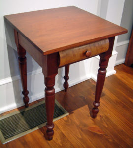 1 Drawer Cherry Stand with Maple Drawer