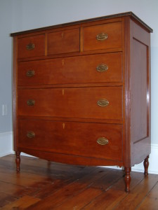 475 - c 1825 Fairfield County Ohio Sheraton Chest Attributed to Jacob Bope