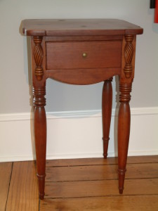 477 - c1825 Cherry Sheraton Stand attributed to Fairfield County Ohio Stand