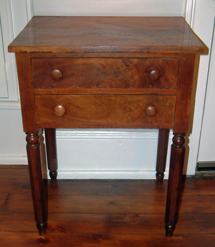 Two drawer stand attributed to Isaiah Vorys - c 1840