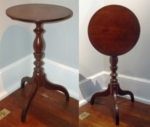 c1840 Cherry tilt-top candle stand