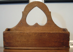 Hanging Candle Box with Cutout Heart Handle