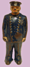 Policeman Cast Iron Still Bank